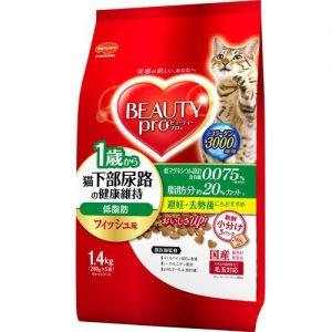 ビューティープロ キャット 猫下部尿路の健康維持 低脂肪 1歳から フィッシュ味
